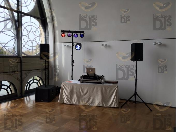 Aufbau DJ-Paket Elegance in der Flora Köln