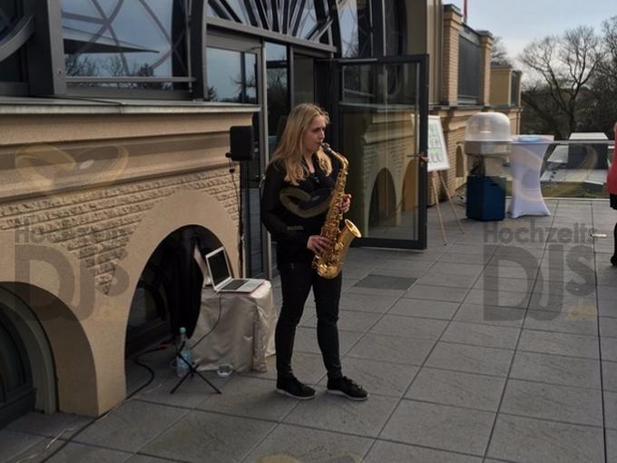 Saxophonist in der Flora Köln