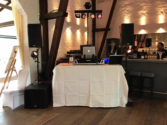 Aufbau DJ-Paket Elegance im Golfclub Meerbusch