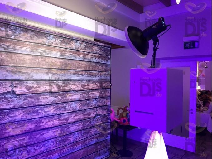 Photobooth mit Hintergrund in Gut Dyckhof