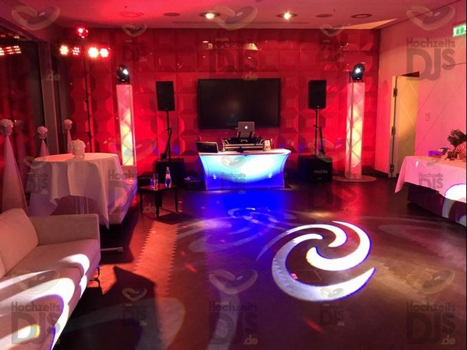 Aufbau DJ-Paket Superior B im Kameha Grand Hotel Bonn