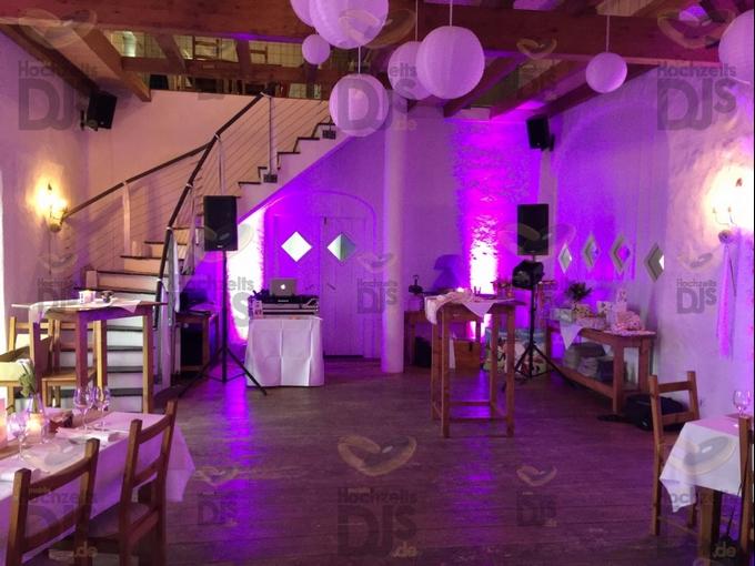 Aufbau DJ-Paket Elegance im Niemeshof