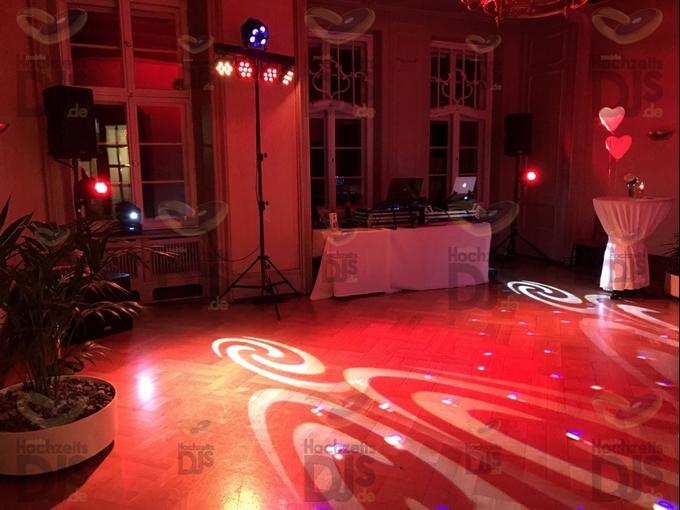 Aufbau DJ-Paket Elegance mit Washern in Schloss Garath Düsseldorf