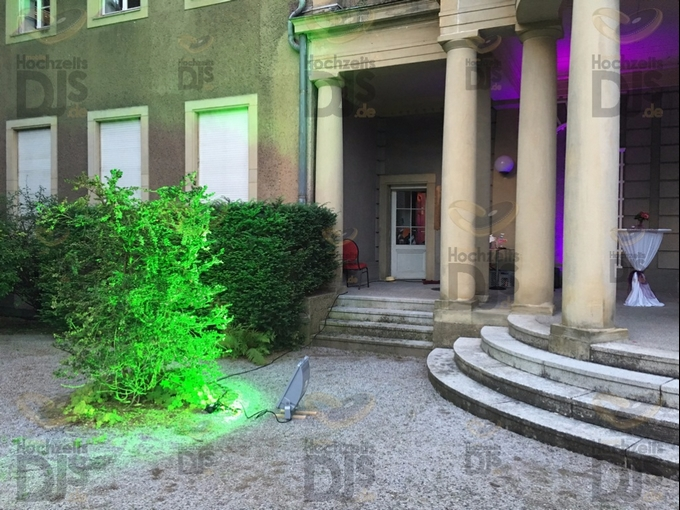 HQI Scheinwerfer in Schloss Garath Düsseldorf