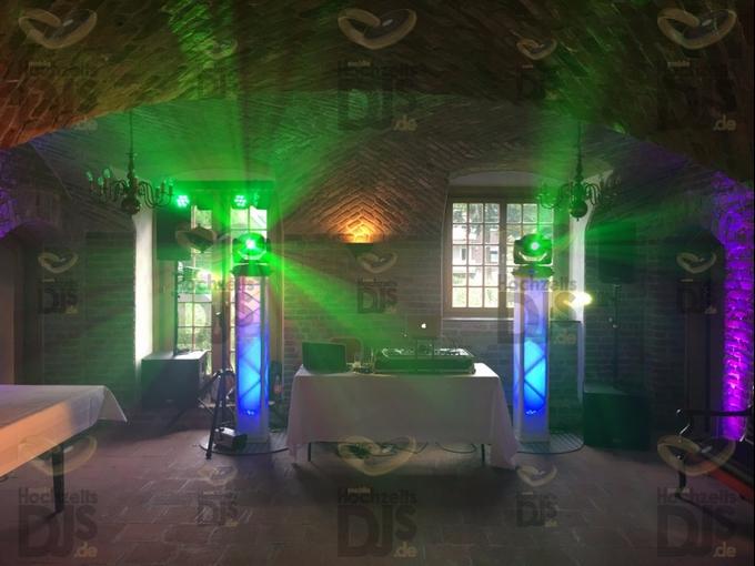 Aufbau DJ-Paket Superior B in Schloss Hertefeld Weeze