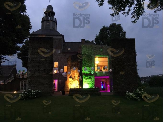 Aussenbeleuchtung in Schloss Hertefeld Weeze