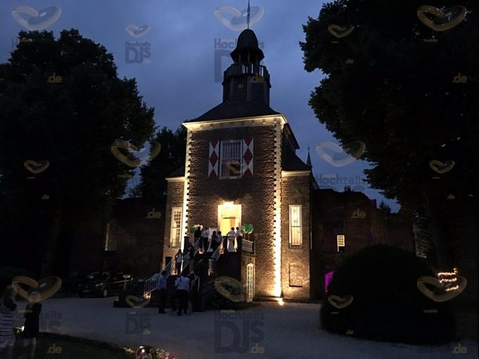 Abenddämmerung in Schloss Hertefeld Weeze