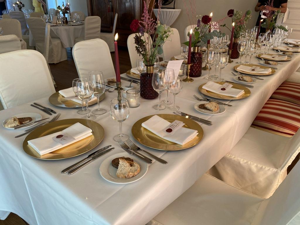 Hochzeitsessen in Schloss Hertefeld Weeze