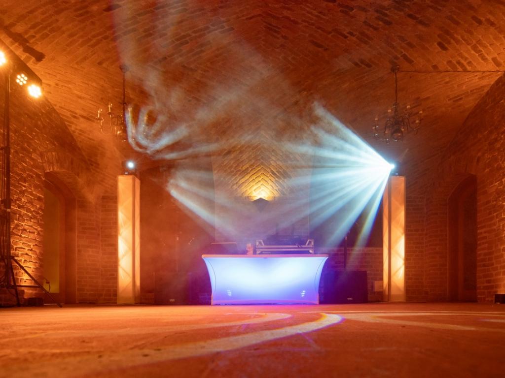 Lichtshow in Schloss Hertefeld Weeze